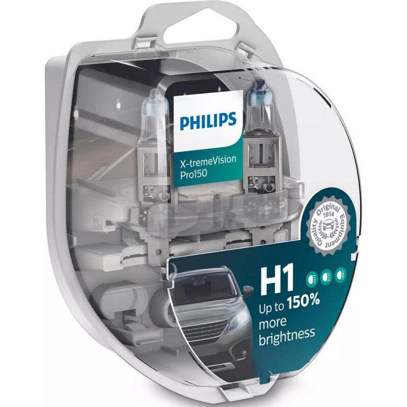 Philips X-Treme Vision Pro150 H1 pærer +150% mere lys (2 stk) Philips Xtreme Vision Pro +150%