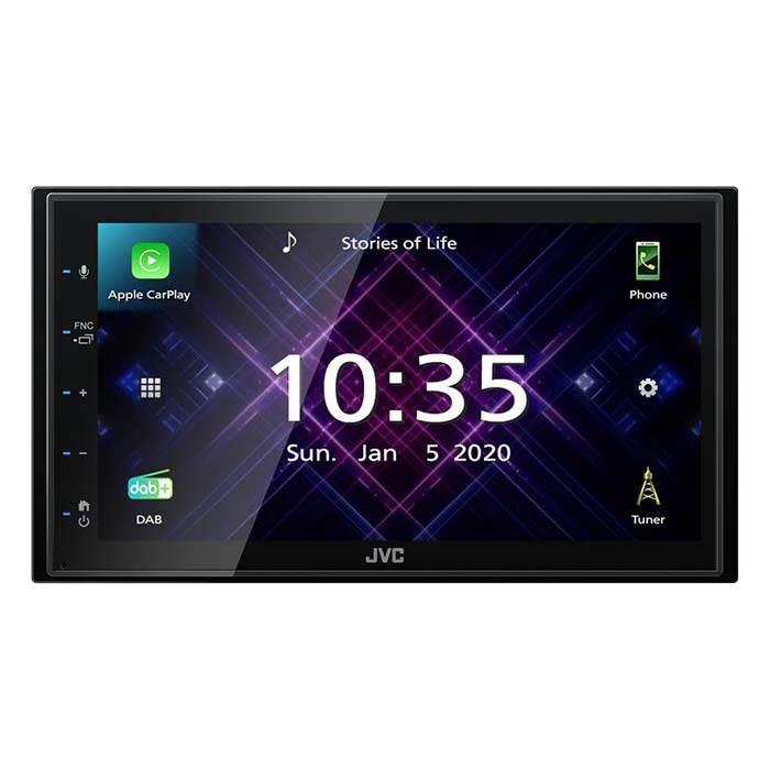 JVC autoradio KW-M565DBT 2 DIN App Radio / Carplay & Android DAB+ Bilstereo