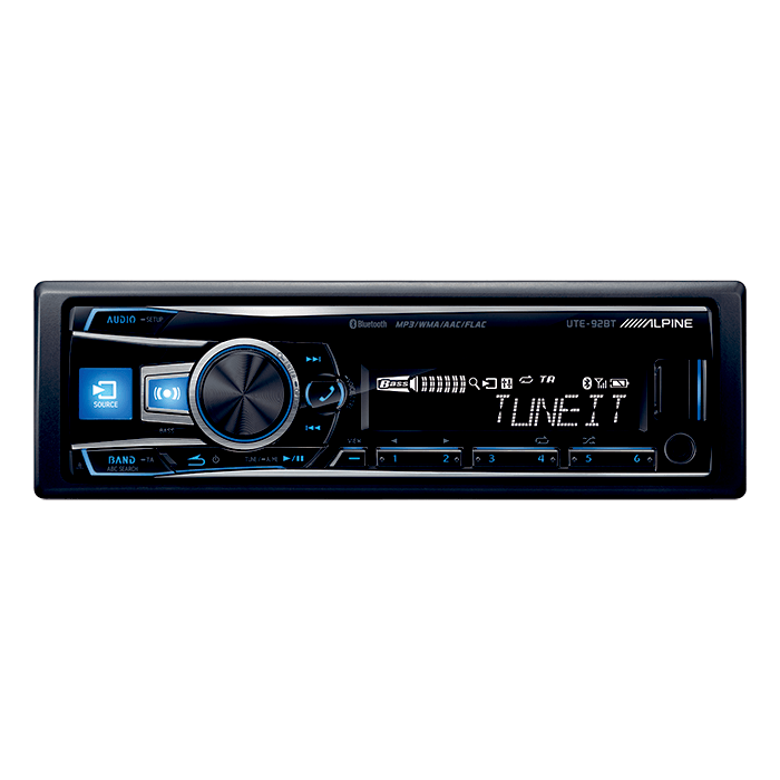 Alpine UTE-92BT Turner/Ipod Bluetooth Bilstereo > CD / Radio