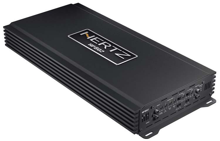 Hertz HP802 SPL Show forstærker 1800 watt Bilstereo