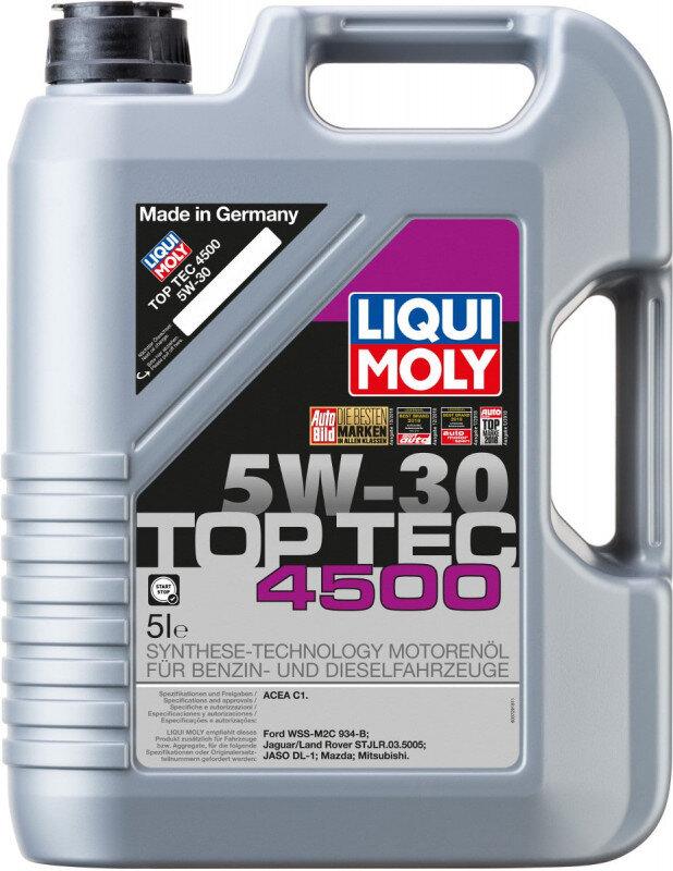 Top tec 4500 Liqui moly 5W30 Motorolie i 5l Top tec motorolie fra Liqui Moly