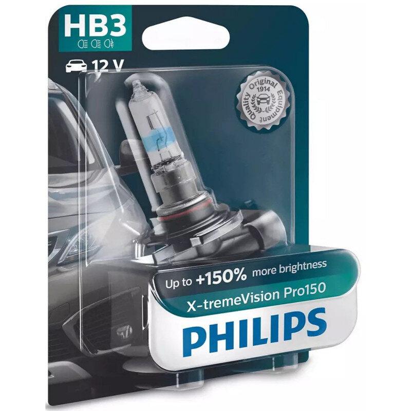 Philips X-Treme Vision Pro150 HB3 pærer +150% mere lys (1 stk) Philips Xtreme Vision Pro +150%