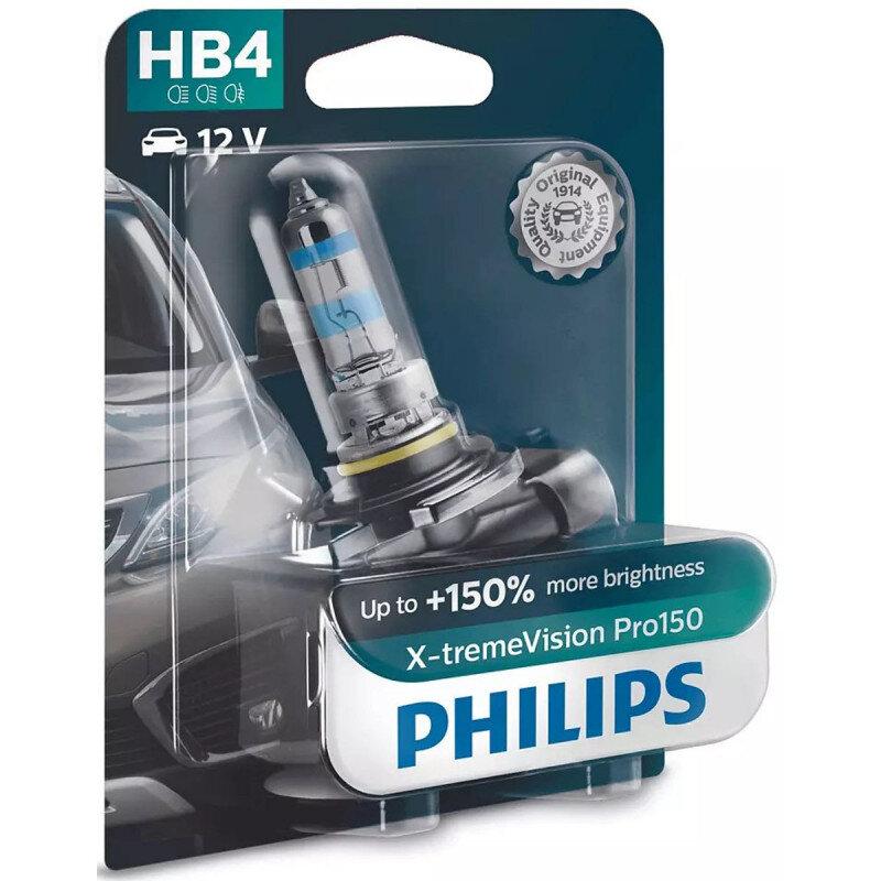Philips X-Treme Vision Pro150 HB4 pærer +150% mere lys (1 stk) Philips Xtreme Vision Pro +150%