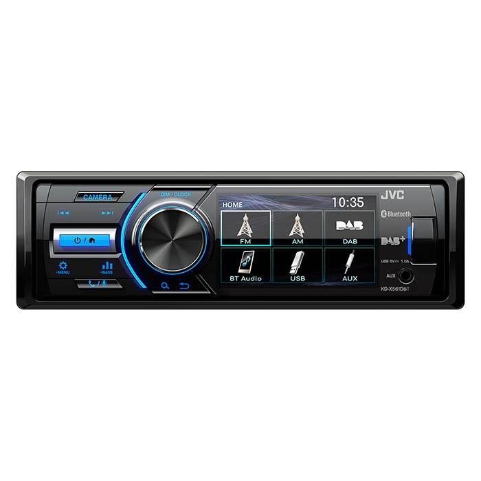 "JVC autoradio KDX561DBT 1-DIN multimedia FM DAB+ 3"" farveskærm Bilstereo"