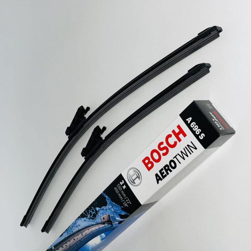 A696S Bosch AeroTwin Vinduesvisker / Viskerblade sæt på 55+45cm passer til BMW Serie 1 & 2 (F20+F21+F22) Bosch Vinduesvisker / Viskeblade & Bagrudeviskere