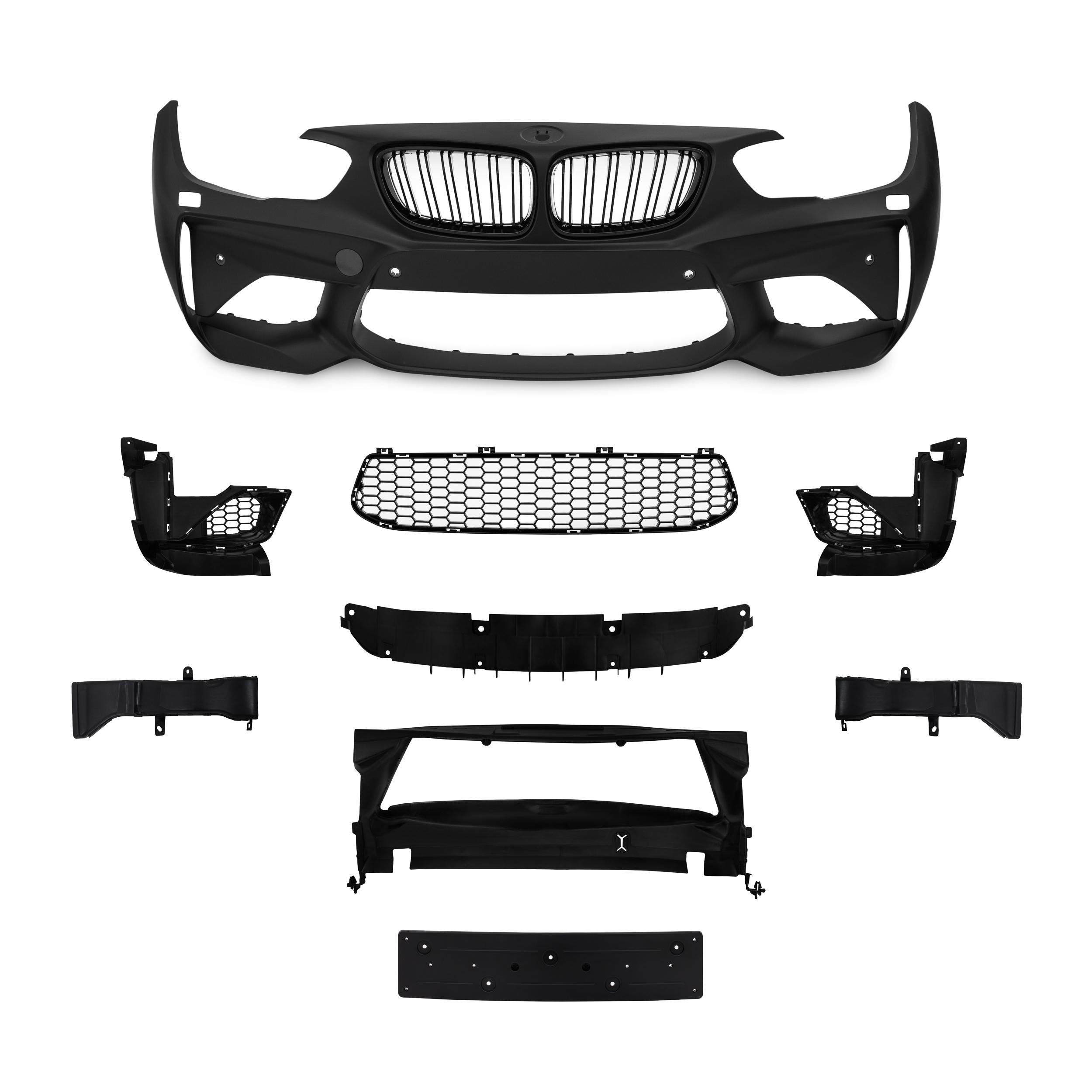 JOM Forkofanger Sports design med grill til BMW 1 serie F20 LCi / F21 LCi årgang 2015-2018 Styling
