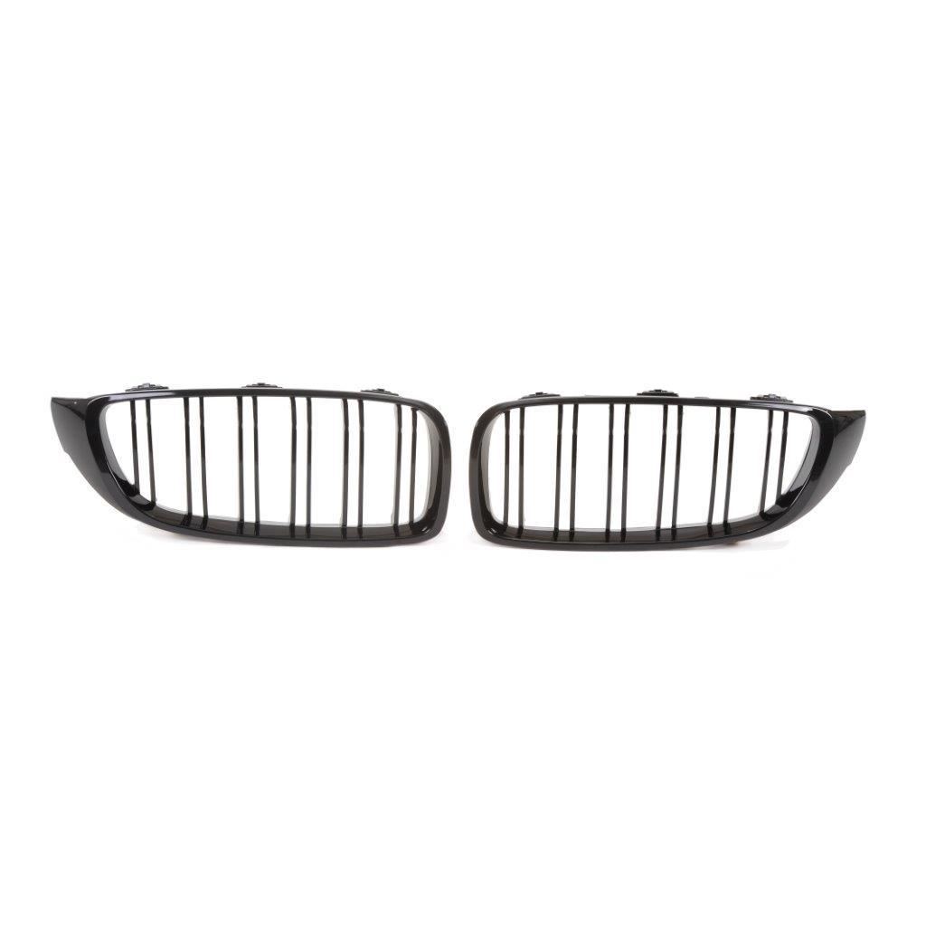 JOM Frontgrill med dobbelt ribbe i blank sort til BMW serie 4 F32/F33/F36 årgang 2013- Styling