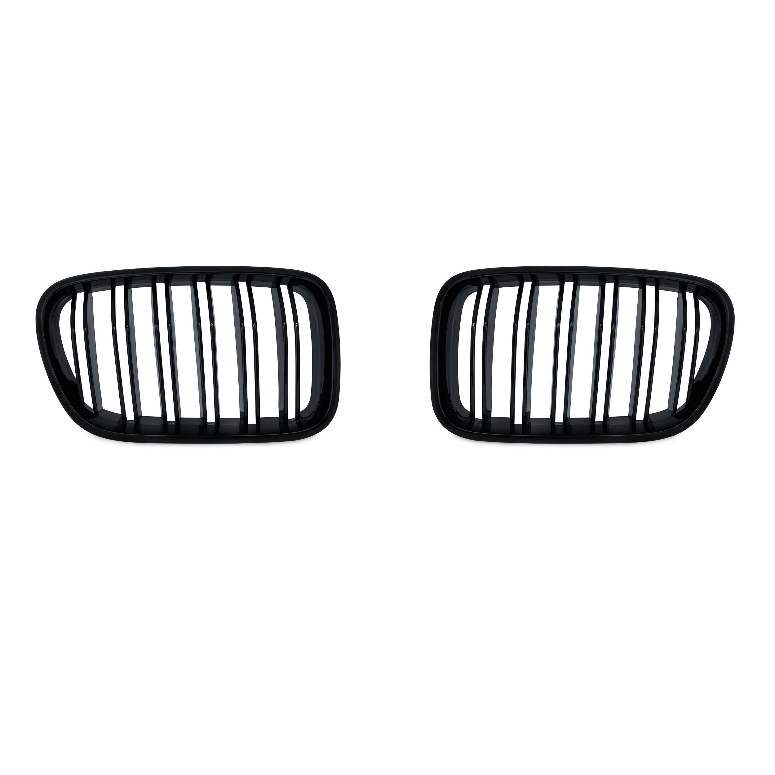 JOM Frontgrill med dobbelt ribbe i blank sort til BMW X3 F25 årgang 2010-2014 Styling