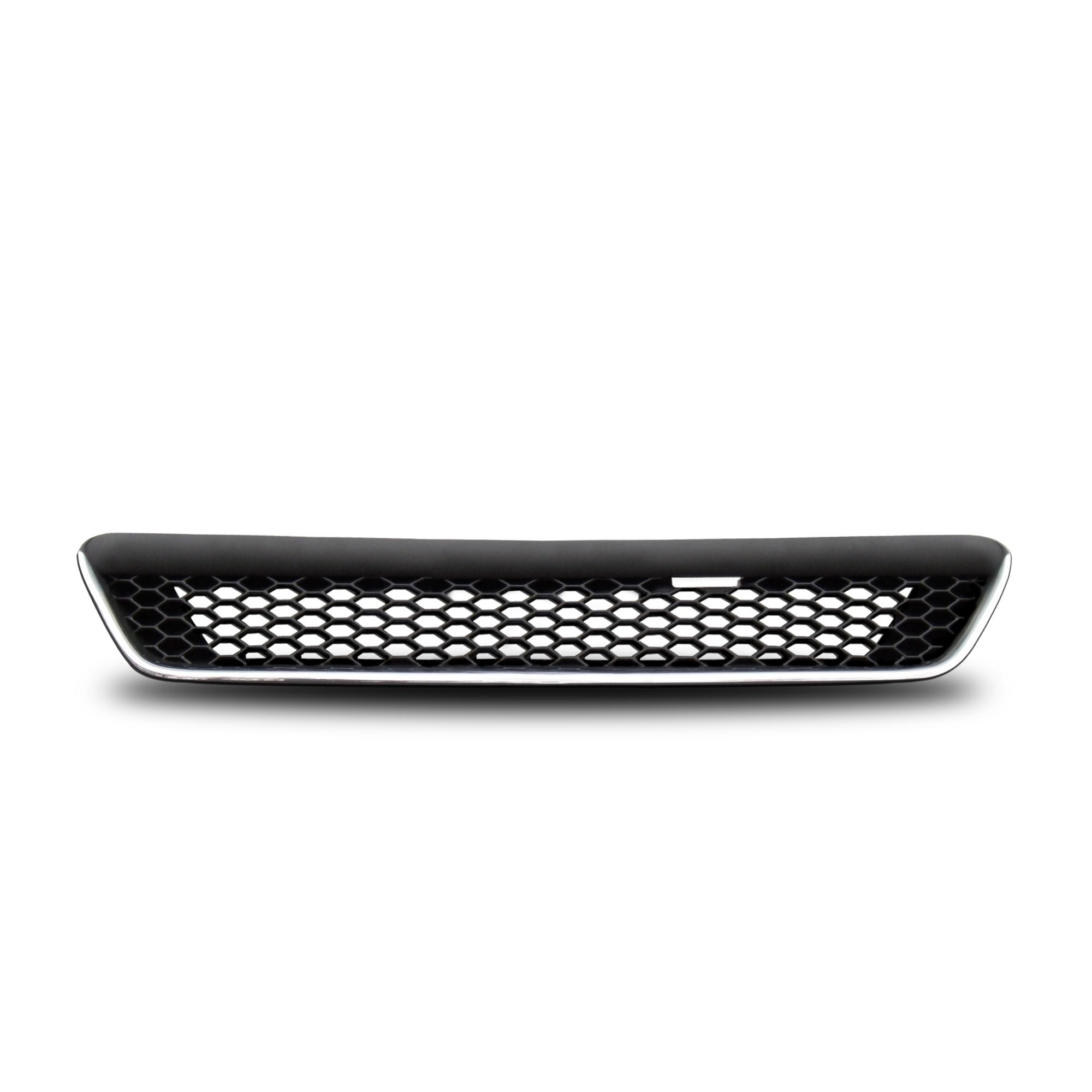 JOM Frontgrill sports look med diamant look i blank sort/krom til Opel Astra G - uden logo Styling