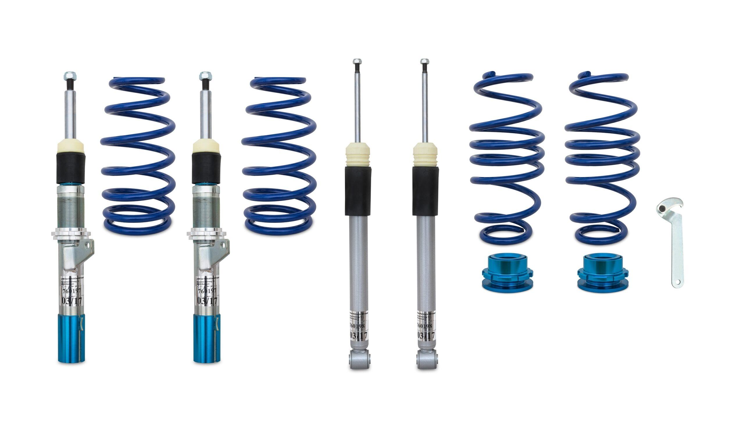 Blue Line - Gevindundervogn til VW Golf 7 Limousine og Sportsvan - Fast bagbro Styling > Gevindundervogn