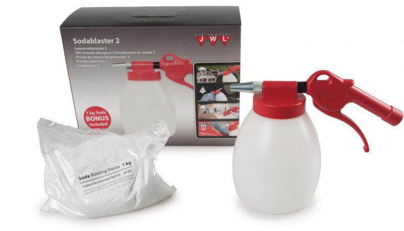 Sodablæser version 2 & 1kg Sodapulver fra JWL Sodablæsere & tilbehør