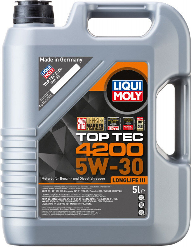 Top tec 4200 Liqui moly 5W30 Motorolie i 5l Top tec motorolie fra Liqui Moly