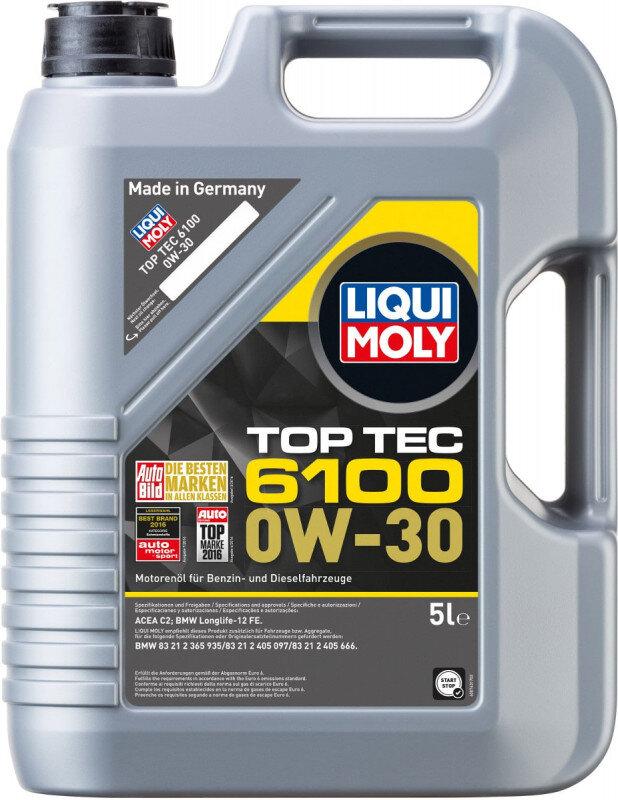 Top tec 6100 Liqui moly 0W30 Motorolie i 5l Top tec motorolie fra Liqui Moly