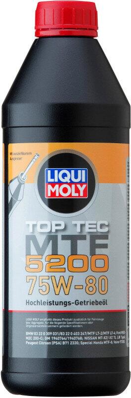 Top Tec MTF 5200 75W80 Liqui Moly gearolie i 1 liters flaske Gearolie fra Liqui Moly