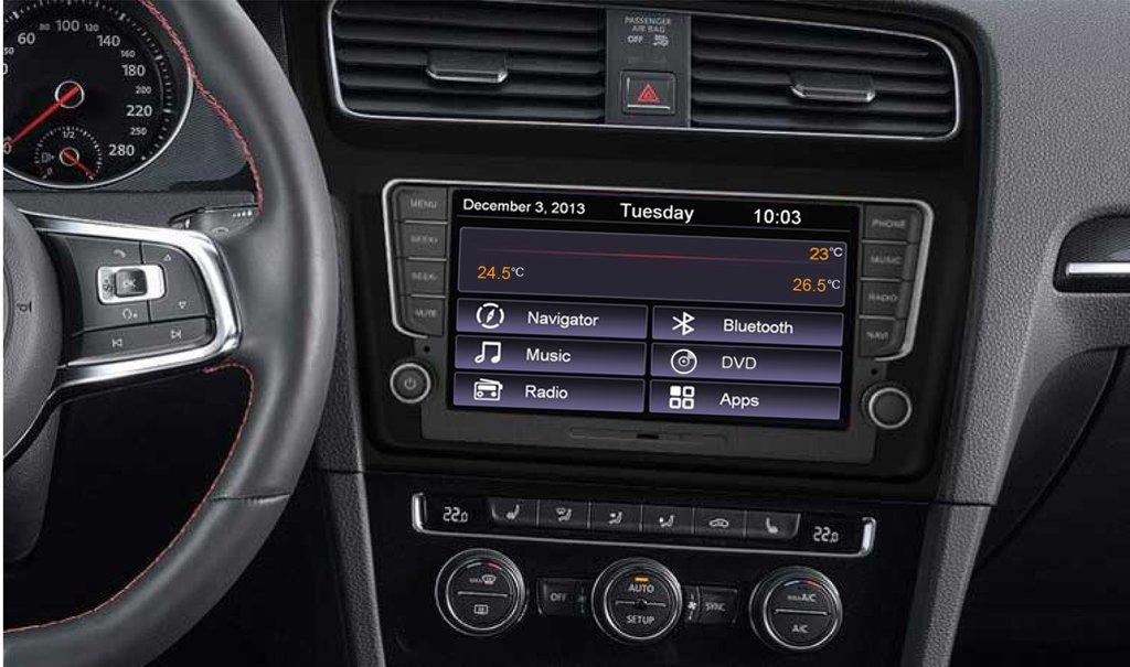 Volkswagen Golf 7 Navigation (Composition Media) Piano sort Bilstereo > Navigation > Skoda