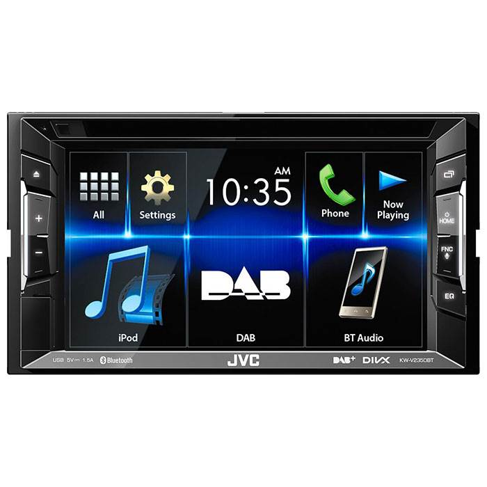 JVC autoradio KWV235DBT 2 DIN bilradio med DAB+ og Bluetooth Bilstereo
