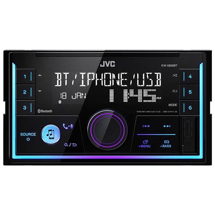 JVC autoradio KWR830BT 2din RDS turner m. Bluetooth Bilstereo