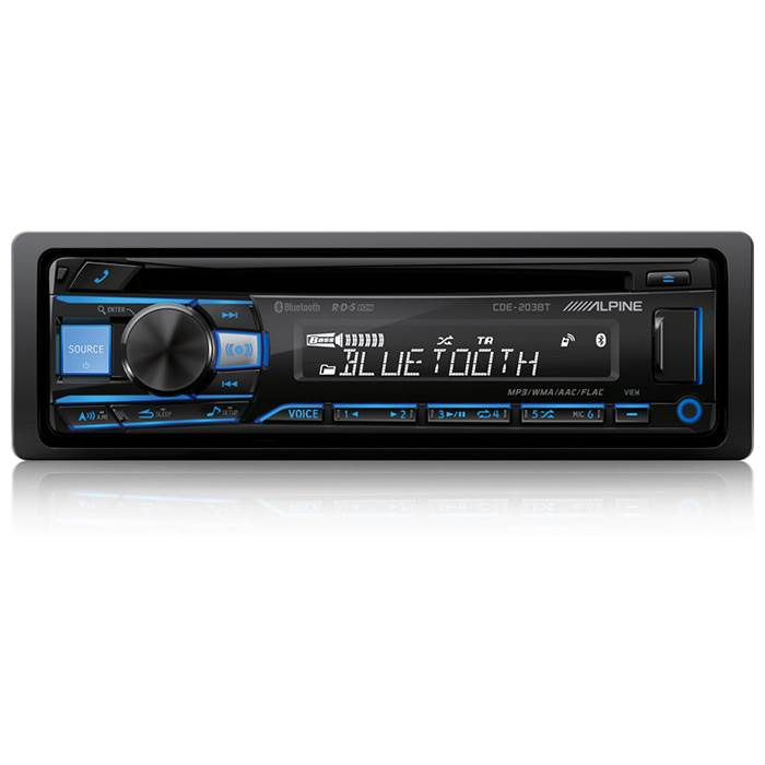 Alpine CDE-203BT CD/Turner 2 line out Bluetooth Bilstereo > CD / Radio > Alpine