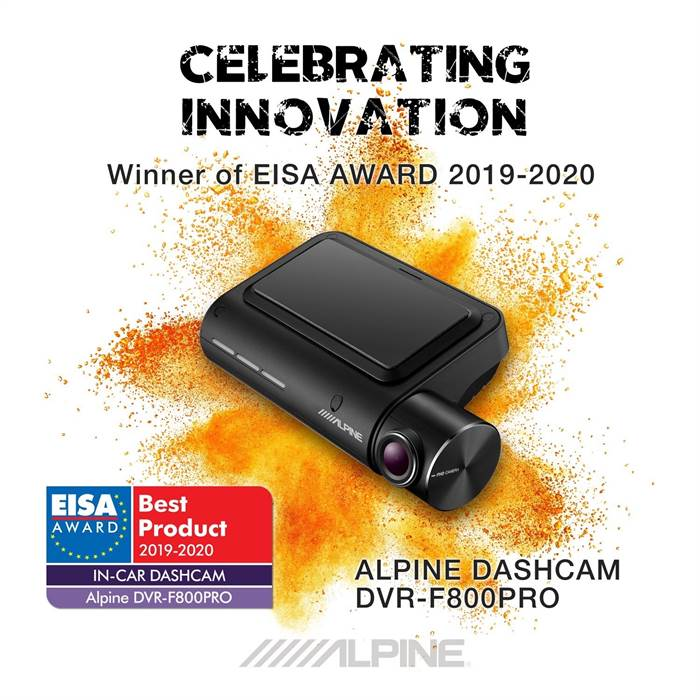 Alpine DVRF800PRO Front Kamera med GPS og lane assist Bilstereo > Frontkamera