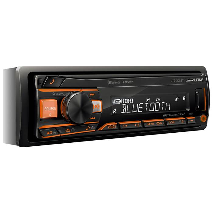 Alpine UTE200BT Turner/Ipod Bluetooth 2 line out Bilstereo > CD / Radio