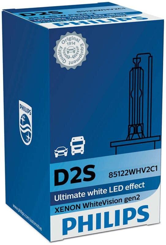 Philips D2S WhiteVision gen2 Xenonpære med +20% mere lys (1 stk) Xenon Pærer