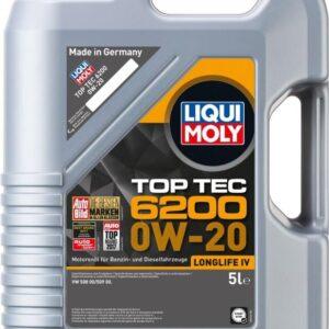 Top tec 6200 Liqui moly 0W20 Motorolie i 5l Top tec motorolie fra Liqui Moly